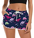Rave on Friday Pantalones Cortos de Natación para Mujer Playa de Secado Rápido 5D Impresa de Baño Shorts de Natación Niña Transpirables para Gimnasio, Entrenamiento Casual y Deportivo XL