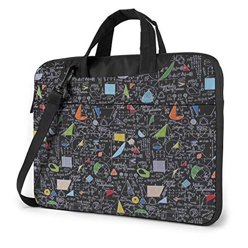 15.6″Durable Hombro Mensajero Bolsa maletín PC Ecuaciones matemáticas Teoría de números Trigonometría Moda Impermeable Ordenador Portátil/portátil/Tablets