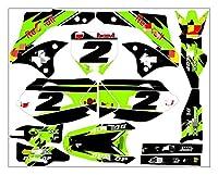Zhbqcmou MDJC3006カスタマイズした3Mオートバイデカールステッカーグラフィックグラフィックデカールキット川崎KXF450 2006 2007 2008 hnzhb (Color : 4)