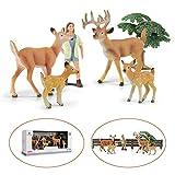 GizmoVine Animales Juguetes de Figuras Niño Educativo Conjunto Modelo de Venado y Pequeña Granja con Caja de Regalo Regalos de Cumpleanos para Chico