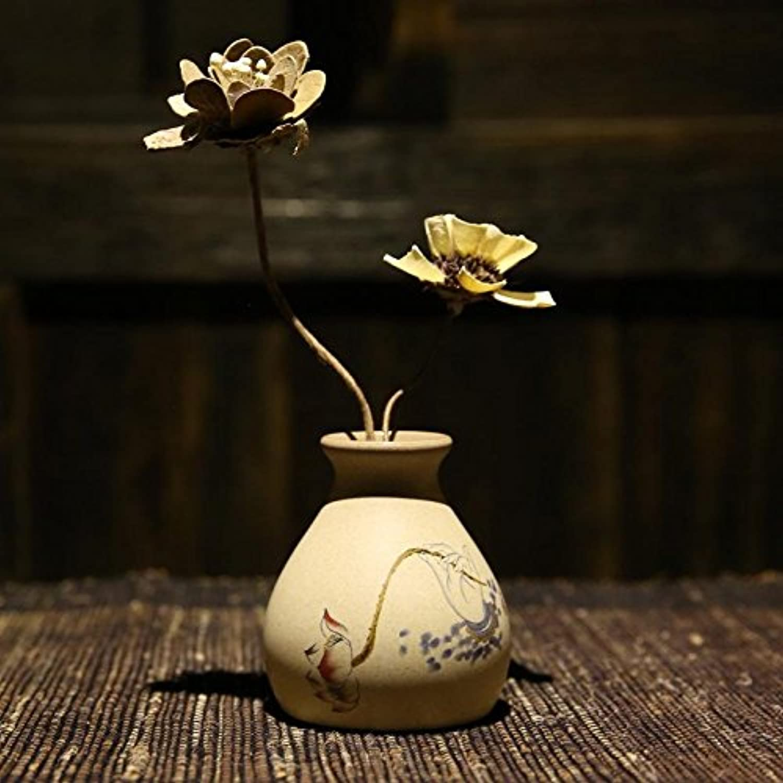 Maivas Vase En Céramique Décoration Décorative ArrangeHommest Floral OrneHommests De Table Retro Accessoires De Maison De La Poterie, Vase épaisse Hkj12