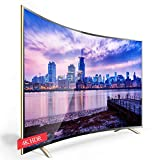 XFF Smart WiFi Network 4K HDR Curved Screen (4000R Curvature) TV, 55,60,65,70,75,95inch Hotel Home Explosion-Proof TV, H.265 Decoding/64-bit Processor/1.8GHz Frequency/28nm Process
