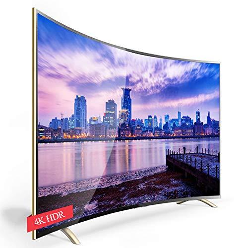 XFF Red WiFi Inteligente Pantalla Curva 4K HDR (curvatura 4000R) TV, 55,60,65,70,75,95inch Hotel Casa a Prueba Explosiones Televisión, Decodificación H.265/Procesador 64 bits/Frecuencia 1.8GHz