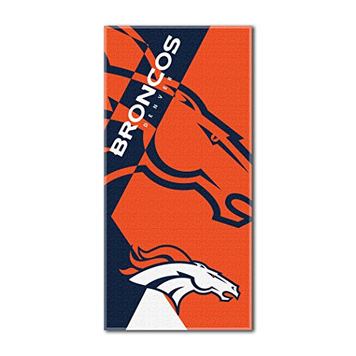 Denver Broncos NFL Royal Plush Raschel Blanket (Big Burst Series) (60x80 )