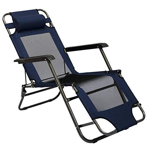 AMANKA Liegestuhl 155x60cm - Sonnenliege Strandliege Gartenliege Campingstuhl Klappliege
