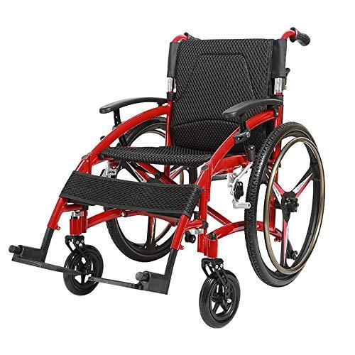 WZC Rollstuhl, der leichte ultraleichte tragbare Sport-beiläufige Aluminiumschnellspanner-stoßdämpfende alte Mann-reisende kleine Schubkarre-Reise faltet