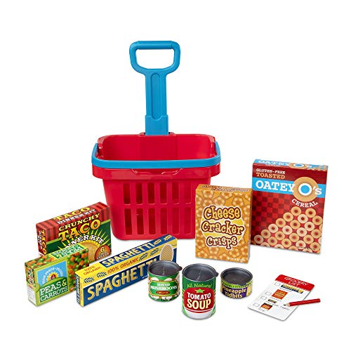 11-Pc Melissa & Doug Fill & Roll Grocery Basket Play Set $9 + Free Shipping w/ Amazon Prime or Orders $25+