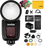 Godox V1S r&e TTL-Kamera mit Blitzlicht + Godox AK-R1 Blitzkit Kompatibel für Sony-Kamera