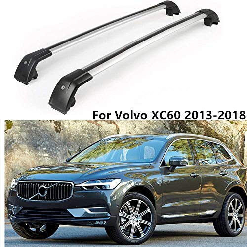 MotorFansClub Top Roof Rack Cross Bar Crossbar Rail Cargo Luggage Fit for Compatible with Volvo XC60 2013-2018