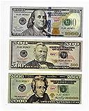 Play Money $500/1000/2000 bills best Novelty Movie Prop Prank Money Fake 30x Size 2.25 x 5.25