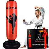 """Mr. Paca Kids Inflatable Punching Bag – Free Standing at Home Punch Bag, Great for Practicing Kickboxing, Karate, Taekwondo and to Release Energy in Kids and Adults 5'3"""""""