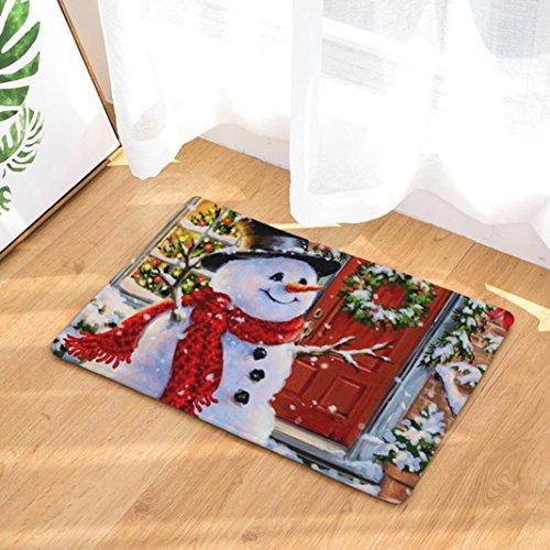 OHQ - Alfombras antideslizantes con motivo de Navidad, alfombrillas decorativas para el pasillo, el salón, el...