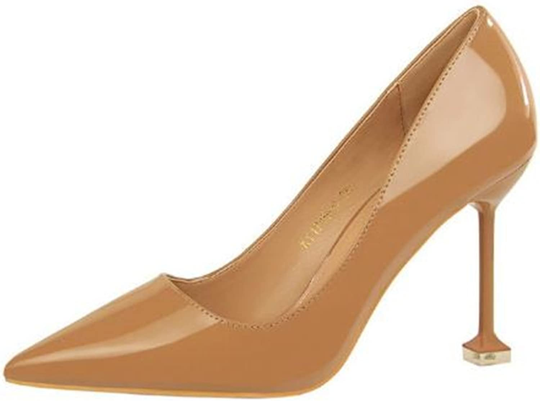 MIKA HOM Women Fashion Pointed Toe Pumps High Heel Stilettos Sexy Slip on Dress shoes
