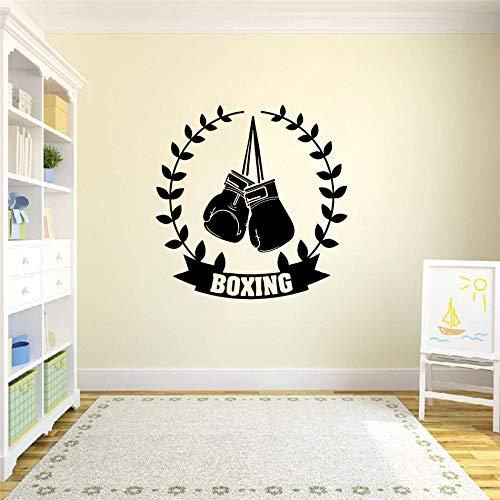 Tianpengyuanshuai Gym wandaufkleber wandplakat Sport Boxhandschuhe dekorrahmen Champion Martial Arts DIY Wand Applique Vinyl Dekoration schwarz 42x42 cm