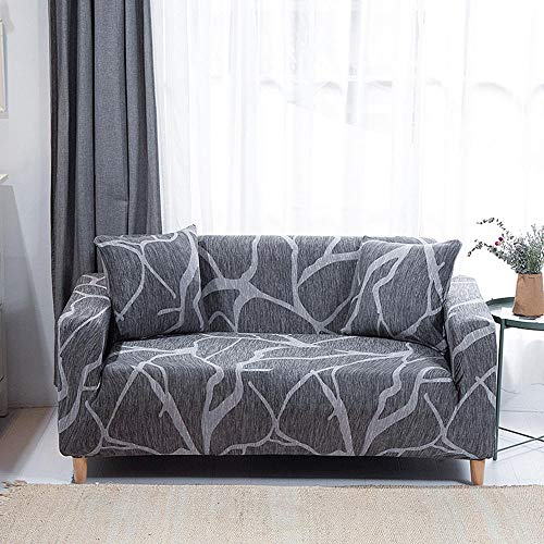 HXTSWGS Housse de Canapé d'angle,Sofa Cover, Spandex Elastic Polyester 1/2/3/4 Seater Couch,Slipcover Chair Living Room Furniture Protector-A8_1seat 90-140cm
