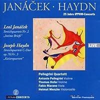 ヤナーチェク:弦楽四重奏曲第2番、ハイドン:弦楽四重奏曲『皇帝』 ペレグリーニ四重奏団