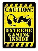 CAUTION:EXTREME GAMING INSIDE ティンサイン ポスター ン サイン プレート ブリキ看板 ホーム バーために