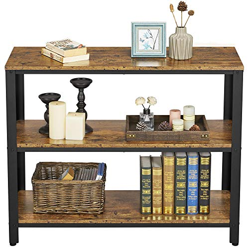 Yaheetech 3 Tiers Console Sofa Side Table Bookshelf Entryway Accent Tables Storage Shelf Living Room Entry Hall Table Furniture