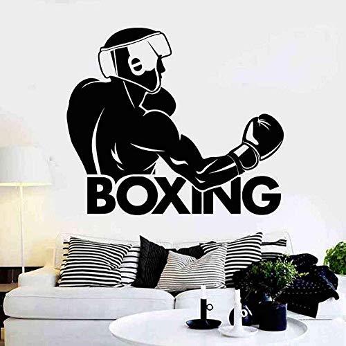 Wandaufkleber Boxhandschuh Aufkleber Kick Boxer Play Car Decal Kampfplakate Vinyl Striker Wandtattoos Dekor 58X67Cm
