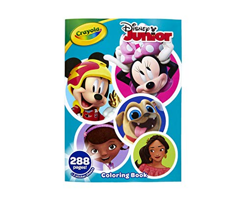 Crayola Disney Coloring Book, Disney Jr. Gift, 288 Pages, Ages 3, 4, 5, 6