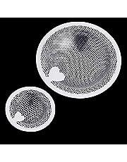 Funnty ユニットバス用 洗面器排水口用 ゴミ受け パンチング SとL 2個セット ステンレス ヘアキャッチャー 抗菌 排水口サイズ:8-10cm、3.5-4.8cm [並行輸入品]