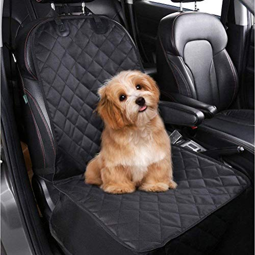 amzdeal Dog Single Car Seat Covers Front, Pet Seat Cover Protector Back Waterproof, Car Seat Covers for Dogs Pets Travel Outdoor 100 * 52cm (Black)