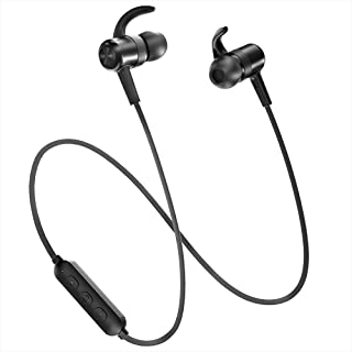Bluetooth Headphones TaoTronics Sweatproof Sport Earphones 9 Hours 4.2 Magnetic Lightweight & Fast Pairing (CVC 6.0 Noise Cancelling Mic, Snug Silicon Earbuds, Magnetic Design)