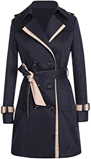 Double-Breasted Classic Coats for Women Winter Warm Jacket Overcoat Outwear Slim Long Trench Buttons Coat