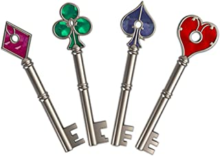 Resident Evil 2 Remake Keys Collection Set of 4 Silver Keyblade Operation Raccoon City Pendent Cosplay Keychain Accessories