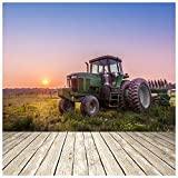 azutura Grüner Traktor Fototapete Sonnenuntergang Tapete Wohnzimmer Schlafzimmer Wohnkultur Erhältlich in 8 Größen Extraklein Digital