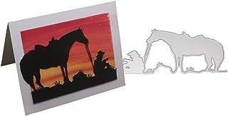 DIY Album De Scrapbooking Outil De Gaufrage WuLi77 Cheval de Course m/étal Scrapbooking Dies Decoupe