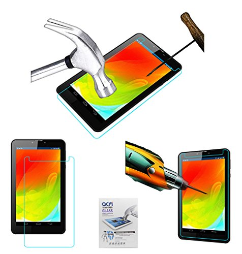 Acm Tempered Glass Screenguard Compatible with Swipe Slice 3g Screen Guard Scratch Protector