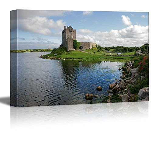 wall26 - Canvas Prints Wall Art - View of The Dunguaire Castle, Kinvara Bay, Galway, Ireland | Modern Wall Decor/Home Decoration Stretched Gallery Canvas Wrap Giclee Print. Ready to Hang - 16' x 24'