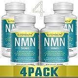 Nicotinamide Mononucleotide NMN 60 Cápsulas de Cellimpact | 500 mg por cápsula | Cápsulas NMN para una mayor NAD nivel vegano amigable (4 botellas)