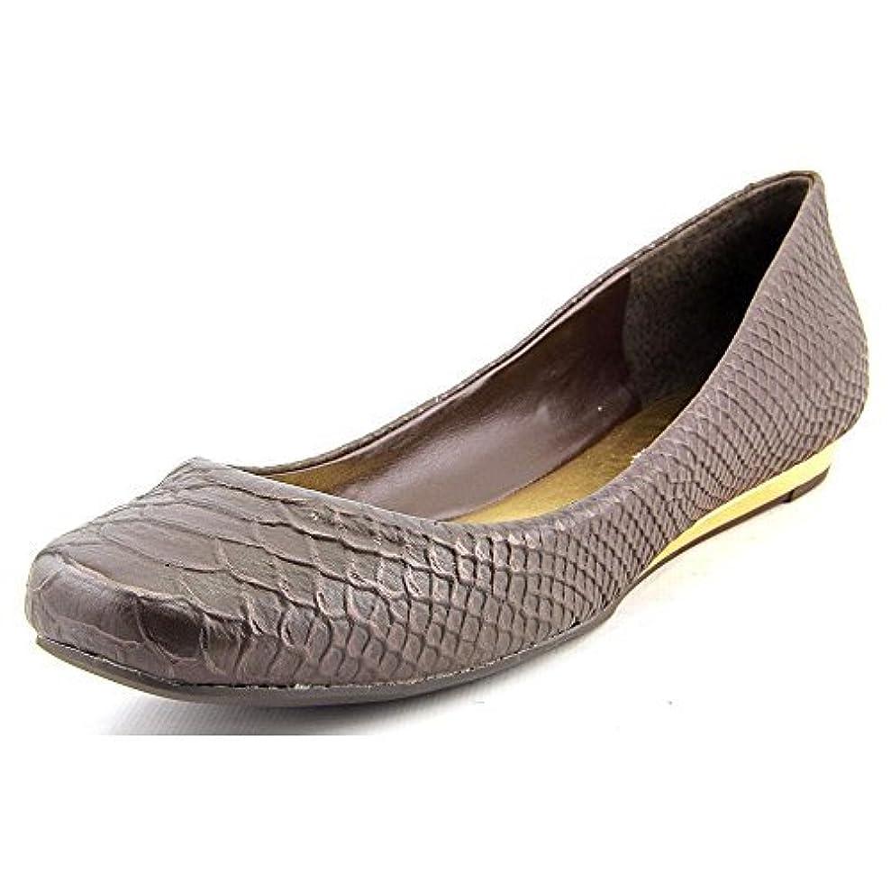 改善製作予約[BCBGeneration] Womens Maryanna Leather Square Toe Slide Flats [並行輸入品]