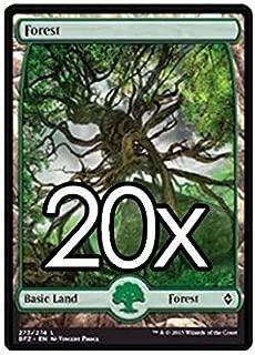 20 Battle for Zendikar Forest #273 Magic the Gathering Basic FULL ART Land Lot