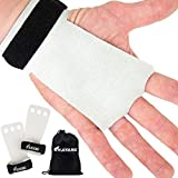 KAYANA 3 Hole Leather Gymnastics Hand Grips - Palm Protection and Wrist Support for Cross Training,...