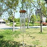 Abcsea 1 Pieza Windbell, Campanas de Viento Tubulares, Carillones de Viento para Jardín, Campana Tubular - Café