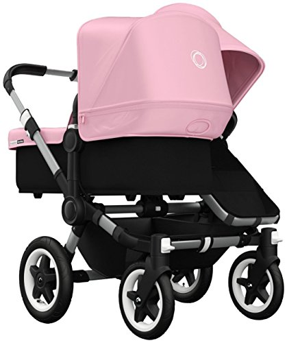 For Sale! Bugaboo Donkey Duo Stroller Bundle - Soft Pink - Aluminum Base