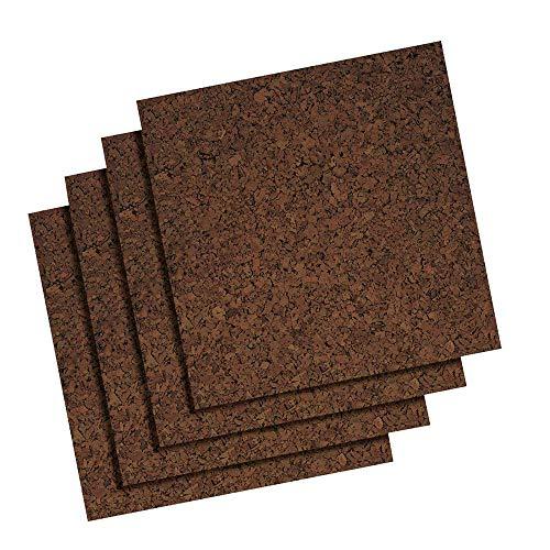 "Quartet Cork Tiles, Cork Board, 12"" x 12"", Corkboard, Wall Bulletin Boards, Dark, 4 Pack (101)"