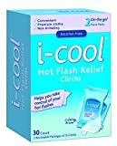 i-COOL Hot Flash Relief Cloths, 30 Count by iCool