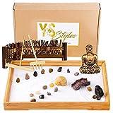zen garden kit 11x8 inch by y&s styles japanese zen garden for desk meditation gift set for home &