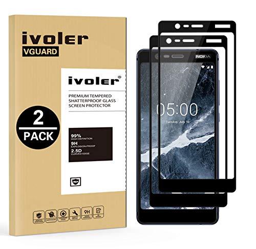 ivoler [2 Stücke] Panzerglas Schutzfolie für Nokia 5.1 / Nokia 5 2018, [Volle Bedeckung] Panzerglasfolie Folie Hartglas Gehärtetem Glas BildschirmPanzerglas