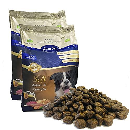 Lyra Pet® 8 kg + 400 g gratis High Premium Dog Soft Strauß & Kartoffel Trockenfutter Allergiker Hundefutter Zahnpflege Hunde