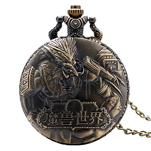Preisvergleich Produktbild Herren Taschenuhr,  Vintage Bronze World of Warcraft Steampunk Taschenuhr,  Geschenke für Männer