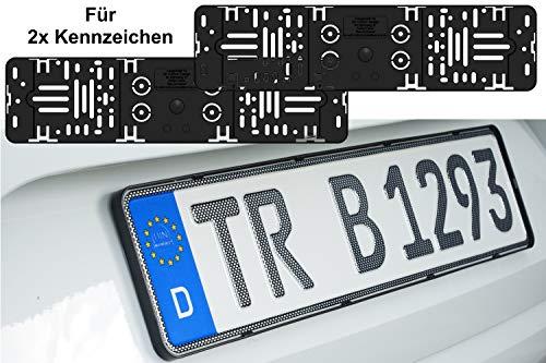 3D Carbon Design 2X Stück Elegant Rahmenlos Kennzeichenhalter Für Auto Kennzeichen 520 x 110 mm 52 x 11 cm