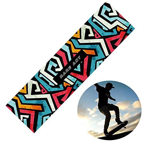 Schneespitze 83x23cm Skateboard rutschfest Griptape,Selbstklebend Aufkleber rutschfest Skateboard Grip Band Blatt Sandpapier,für Skateboard oder Longboard