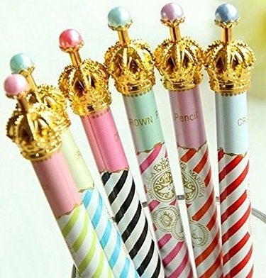 Jollin 12 Cute Korean Kawaii Mechanical Pencils With Erasers And Leading Refills Style Crown