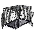 FEANDREAペットケージ 75×47×54cm 室内外兼用犬猫 トレイ付き 折り畳み式 持ち手付き 移動便利 猫のゲージ NPPD30H