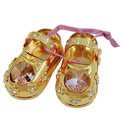 MaMeMi 1 Paar Babyschuhe, mit Glas-Steinen